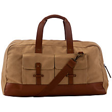 Buy John Lewis Nepal Canvas Large Holdall, Beige Online at johnlewis.com