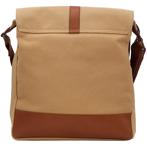 Buy John Lewis Nepal Canvas Messenger Bag, Beige Online at johnlewis.com