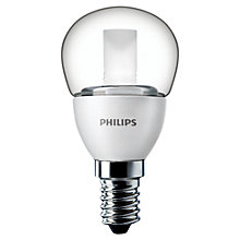 Buy Philips 4W SES LED Golf Ball Bulb, Clear Online at johnlewis.com