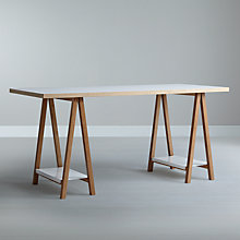 Buy House by John Lewis Highbury Trestle Desk Online at johnlewis.com