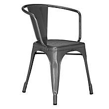 Buy Tolix A56 Armchair, Raw Steel Online at johnlewis.com