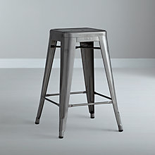 "Buy Tolix ""H"" Stool, Raw Steel Online at johnlewis.com"