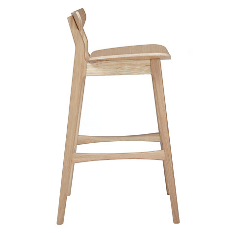 Buy House by John Lewis Ken Stool with Back, Oak Online at johnlewis.com