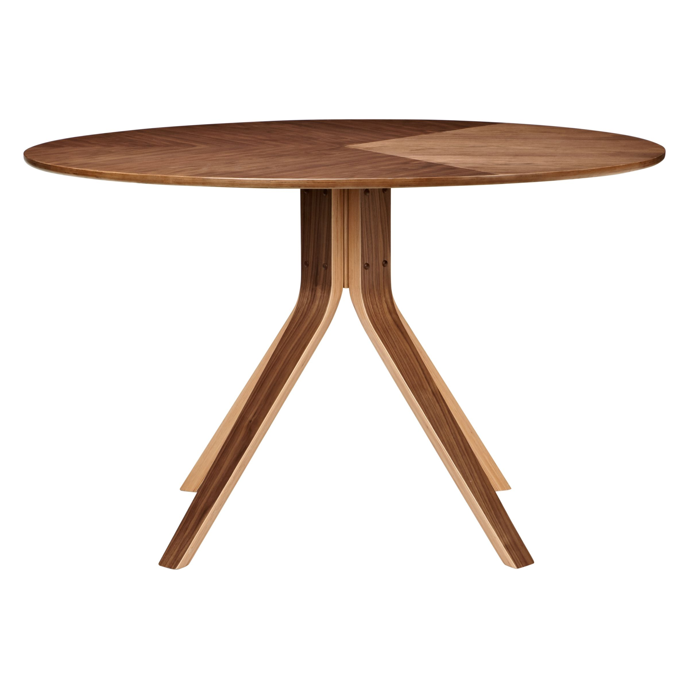 john lewis radar 6 seater round dining table walnut on