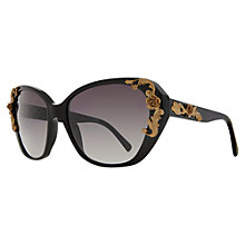 Buy Dolce & Gabbana DG4167 Sicilian Baroque Acetate Sunglasses, Black Online at johnlewis.com