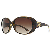 Buy Prada PR27OS 2AU6S1 Oversized Oval Frame Sunglasses, Tortoiseshell Online at johnlewis.com