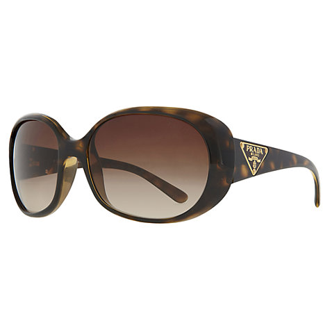 Buy Prada PR27lS 2AU6S1 Oversized Oval Frame Sunglasses, Tortoiseshell Online at johnlewis.com