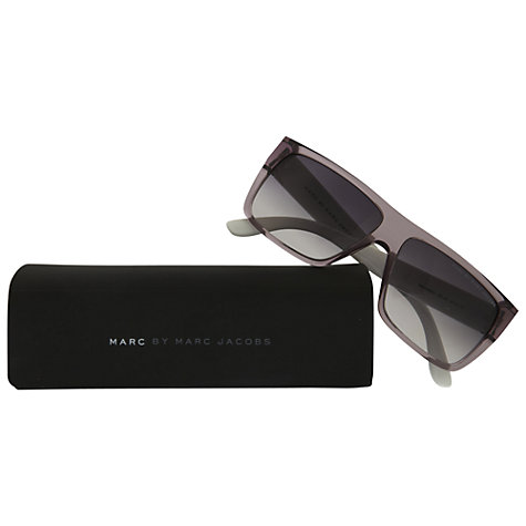 Buy Marc by Marc Jacobs MMJ096/N/S Square Sunglasses, Grey Online at johnlewis.com