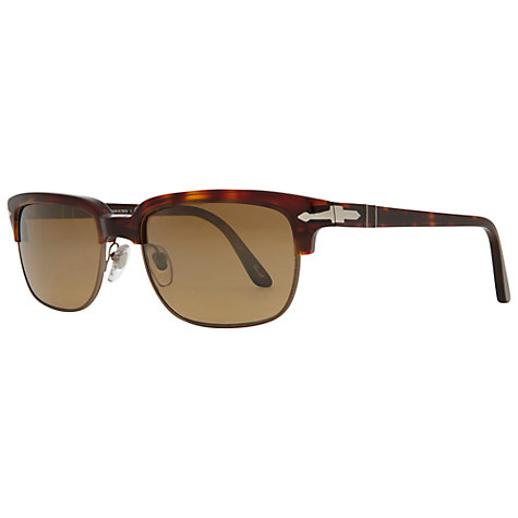 Buy Persol PO3024S 958/4N Crystal Suprema Acetate Framed Sunglasses, Brown Online at johnlewis.com
