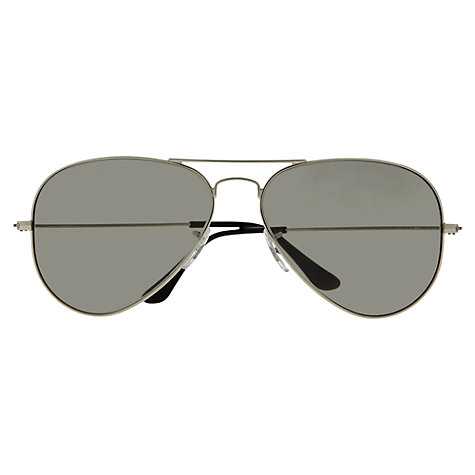 Buy Ray-Ban RB3025 003/32 Aviator Sunglasses, Silver Online at johnlewis.com