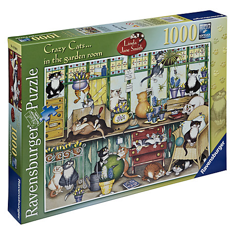 Buy Ravensburger Crazy Cats in the Garden Room 1000 Piece Puzzle Online at johnlewis.com