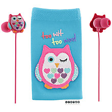 Buy Trendz Owl In-Ear Earphones and Sock Set Online at johnlewis.com