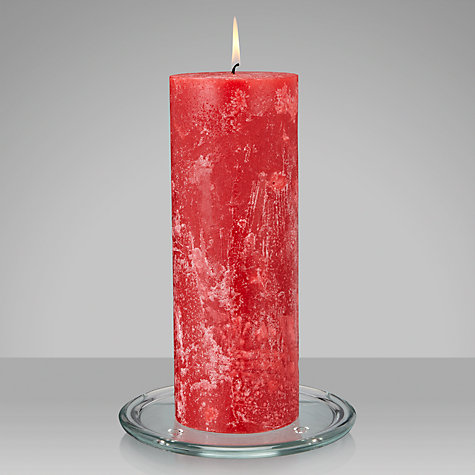 Buy John Lewis Pillar Candle, H28cm, Red Online at johnlewis.com