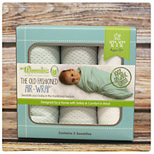 Buy Woombie Organic Old Fashioned AirWrap Swaddle Blankets, Pack of 3 Online at johnlewis.com