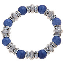 Buy John Lewis Stretch Bead Bracelet, Denim Blue Online at johnlewis.com