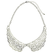 Buy John Lewis Rhodium Plated Lace Collar, Silver Online at johnlewis.com