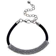 Buy John Lewis Rubber and Rhodium Ball Bracelet, Black Online at johnlewis.com