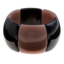Buy Lola Rose Skye Two Tone Stretch Bracelet, Black Agate / Caramel Quartzite Online at johnlewis.com