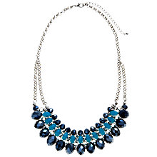 Buy John Lewis Triple Row Glass Sparkle Necklace, Blue Online at johnlewis.com
