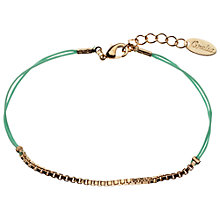 Buy Orelia Box Chain Cord Friendship Bracelet, Mint Online at johnlewis.com