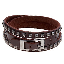 Buy John Lewis Studded Bracelet, Grey/Brown Online at johnlewis.com