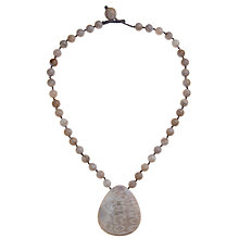 Buy Lola Rose Catriona Chrysanthemum Stone Pendant Necklace, Grey Online at johnlewis.com