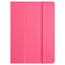 Buy Belkin Colour Duo Tri-Fold Cover with Stand & Autowake for iPad Air, Bubblegum Online at johnlewis.com