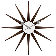Buy Vitra Sunburst Wall Clock, Dia.47cm Online at johnlewis.com