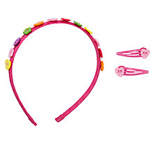 Buy John Lewis Girl Rainbow Hair Accessory Set, Pink Online at johnlewis.com