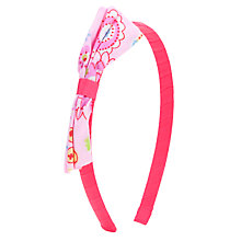 Buy John Lewis Girl Rainbow Print Bow Alice Band, Pink Online at johnlewis.com