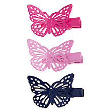 Buy John Lewis Girl Mini Butterfly Clips, Pack of 3, Multi Online at johnlewis.com