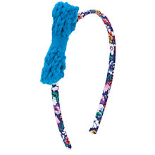 Buy John Lewis Girl Crochet Bow Alice Band, Multi Online at johnlewis.com