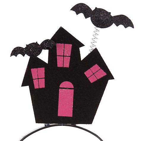Buy John Lewis Girl Haunted House Alice Band, Black Online at johnlewis.com