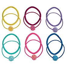 Buy John Lewis Girl Rainbow Ponytail Hairbands, Multi Online at johnlewis.com