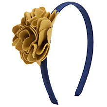 Buy John Lewis Girl Felt Flower Alice Band, Navy/Mustard Online at johnlewis.com