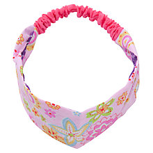 Buy John Lewis Girl Reversible Headband, Pink/Multi Online at johnlewis.com