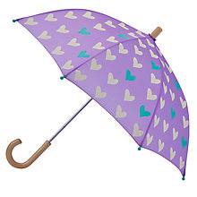 Buy Hatley Hearts Umbrella, Purple Online at johnlewis.com