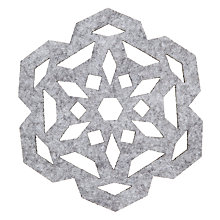 Buy House by John Lewis Snowflake Coasters, Set of 4 Online at johnlewis.com