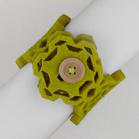 Buy House by John Lewis Snowflake Felt Napkin Ring Online at johnlewis.com