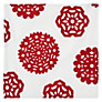 House by John Lewis Snowflake Napkins, Set of 4, Red/ White
