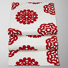 Buy House by John Lewis Snowflake Runner, L200 x W35cm, Red/ White Online at johnlewis.com