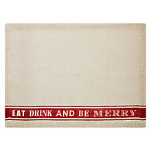 Buy John Lewis Christmas Dinner Placemat Online at johnlewis.com