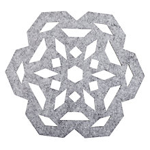 Buy House by John Lewis Snowflake Placemats, Set of 4 Online at johnlewis.com