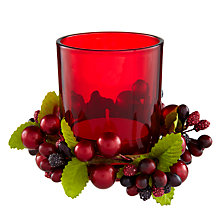 Buy John Lewis Berries Votive, Set of 3, Red Online at johnlewis.com