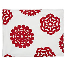 Buy House by John Lewis Snowflake Placemat, Set of 2, Red/ White Online at johnlewis.com