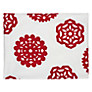 House by John Lewis Snowflake Placemat, Set of 2, Red/ White