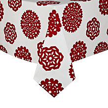 Buy House by John Lewis Snowflake Tablecloth, Red/ White Online at johnlewis.com