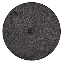Buy John Lewis Cord Placemat, Black Online at johnlewis.com