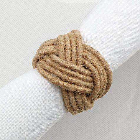 Buy John Lewis Rope Napkin Rings, Set of 4 Online at johnlewis.com