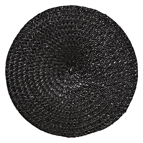 Buy John Lewis Cord Coaster, Black Online at johnlewis.com